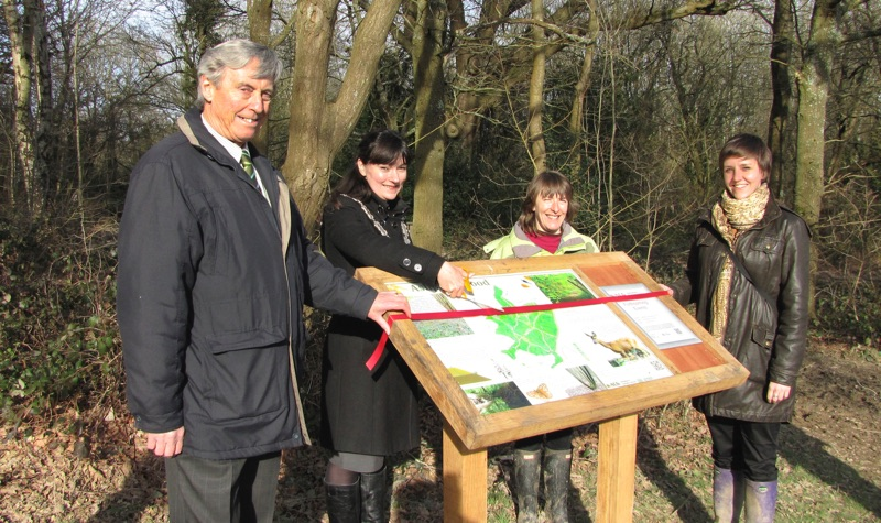 Inauguration of Information signs at Ashplats Wood